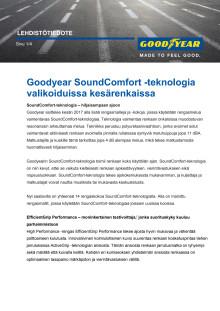 Goodyear SoundComfort -teknologia valikoiduissa kesärenkaissa