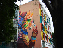 Mexican artist Curiot adds sparkling colours to No Limit Street Art Borås