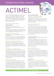 Faktablad Actimel