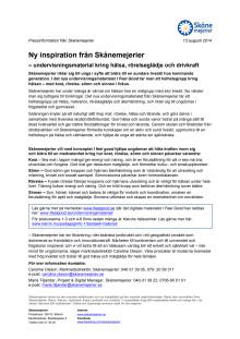 Ny inspiration från Skånemejerier  – undervisningsmaterial kring hälsa, rörelseglädje och drivkraft