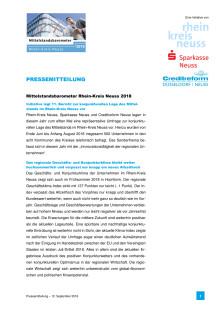 """Pressemitteilung """"Mittelstandsbarometer 2018"""""""