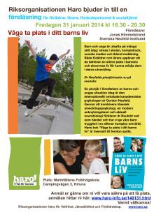 Våga ta plats i ditt barns liv - nu i Kiruna