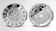 Suomen Moneta jakaa mitaleja Suomen itsenäisyyden kunniaksi