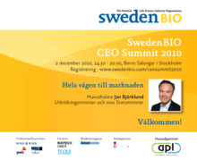 SwedenBIO CEO Summit 2010
