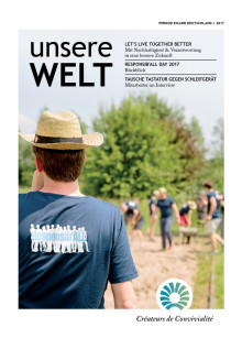 """Nachhaltigkeitsmagazin """"Unsere Welt"""" 2017"""