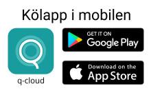 Ta kölapp i mobilen. Ladda ner q-cloud!