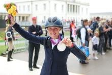 OS-medaljören Sara Algotsson Ostholt hedras i Stockholm
