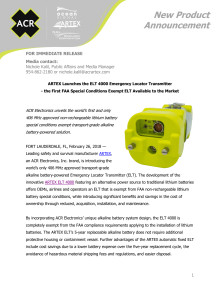 ARTEX Launches the ELT 4000 Emergency Locator Transmitter - the First FAA Special Conditions Exempt ELT Available to the Market