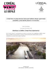 Le Défilé L'Oréal Paris Seinen muotinäytös 30.9.2018