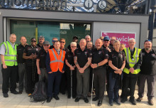 Brighton station team welcome Blind Veterans UK ahead of House of Lords meeting
