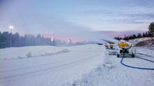 Premiär för den nya snöanläggningen i Orsa Grönklitt