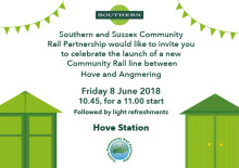 Press call to launch of new Hove to Angmering community rail partnership