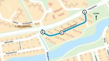 Begränsad framkomlighet på kort sträcka av Hagagatan i två veckor