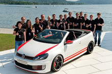 Volkswagen apprentices pay homage to Woerthersee as Golf GTI Cabrio Austria is unveiled