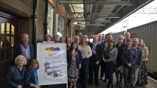 Local art group brings splash of colour to Nuneaton station
