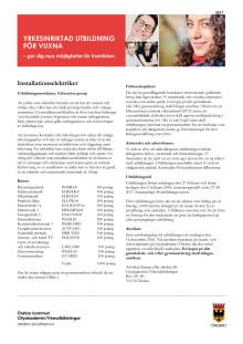 Installationselektriker - Informationsblad