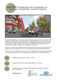 Inbjudan till dialogmöte för entreprenörer om kvarteret Makrillen