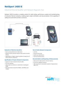 Kabeltestare för industiela Ethernet nätverk