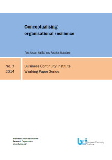Business Continuity Institute Working Paper: Organisational resilience