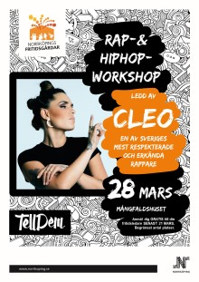 Rapartisten Cleo kommer till Norrköpings fritidsgårdar