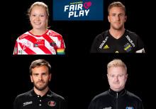 Fyra spelare får Fair Play-utmärkelse