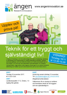Visning i Forsknings- och innovationslägenheten på Ängen torsdag 16 november!