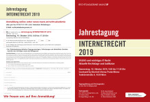 Programmfolder Jahrestagung Internetrecht 2019