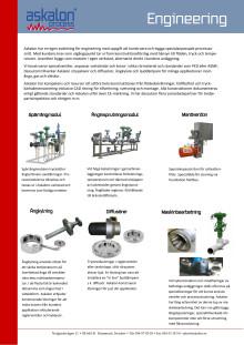 Askalon AB - Rörkonstruktion av ångkylning, ljuddämpare och diffusörer