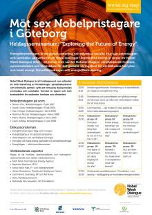 Nobelpristagare på scen i Göteborg