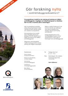 Inbjudan till Almedalsseminarium: Gör forskning nytta i samhällsbyggnadssektorn?