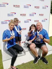 Crawley dad clocks up the miles for British Heart Foundation