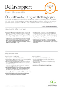 Delårsrapport 1 januari - 30 september 2018