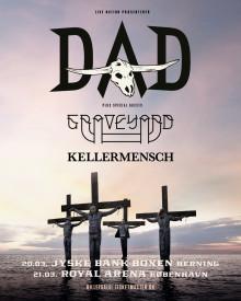 D-A-D tilføjer Graveyard og Kellermensch som special guests til deres to arenakoncerter i marts.