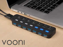 Vooni USB-sentral med 7 porter