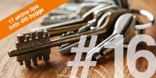 17 sköna tips inför ditt bygge – TIPS 16: LÅS