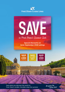 Make attractive savings in Fred. Olsen Cruise Lines' 'Summer Sale 2018'