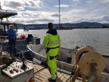 Overvåker nytt land i Drammensfjorden