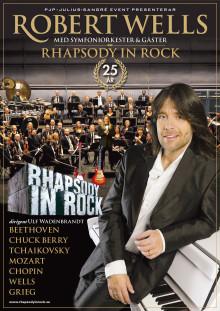 """Robert Wells """"Rhapsody in Rock"""" firar 25 år -premiär för jubileumsturnén den 25 oktober 2014!"""