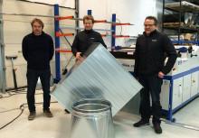 Lindab tilbyr nå firkantkanaler lokalprodusert i Ålesund