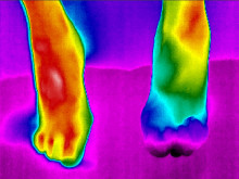 Lämpötilan muutos kielii muutoksista kehossa