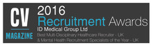ID Medical achieves double recognition as market leader in Recruitment Awards
