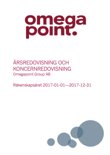 2017 Annual Report Omegapoint Group AB