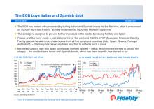 ECB buys Italian and Spanish debt
