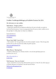 Mer information om varje utställare