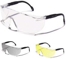 Skyddsglasögon med extra skydd ovanifrån
