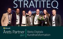 Stratiteq vinnare Microsoft Partner Award 2017