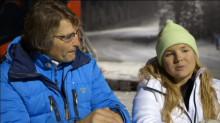 Anja Pärson träffar vår egen snöexpert Jens Wilhelmson.