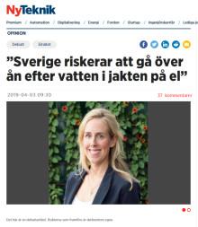 Sverige riskerar att gå efter ån efter vatten i jakten på el