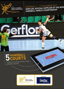 Taraflex sportgolv spelunderlag i Handbolls VM för Damer