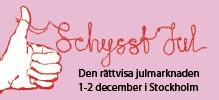 Inbjudan till Schysst Jul 1-2 december. Handla dina julklappar på den rättvisa julmarknaden!